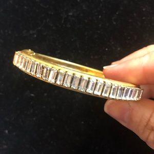 Loft brushed gold bangle